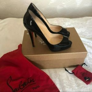 Christian Louboutin Very Prive Patent Heels 37.5